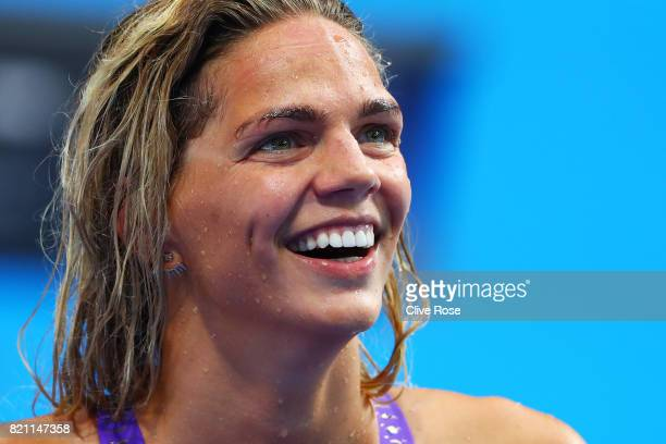 Yuliya Efimova of Russia during the Women's 200m Individual Medley heats on day ten of the Budapest 2017 FINA World Championships on July 23 2017 in...