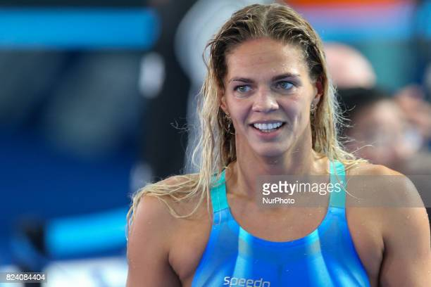 Yuliya Efimova of Russia wins the Women's 200m Breaststroke final on day fifteen of the Budapest 2017 FINA World Championships on July 28 2017 in...