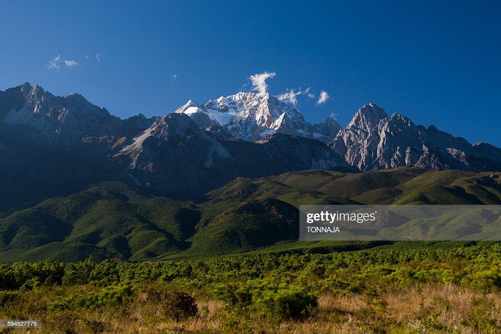 Yulong mountain in Lijiang