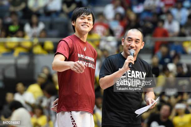 Yuma Fujii of the Kawasaki Brave Thunders speaks after the BLeague Kanto Early Cup 3rd place match between Kawasaki Brave Thunders and Tochigi Brex...