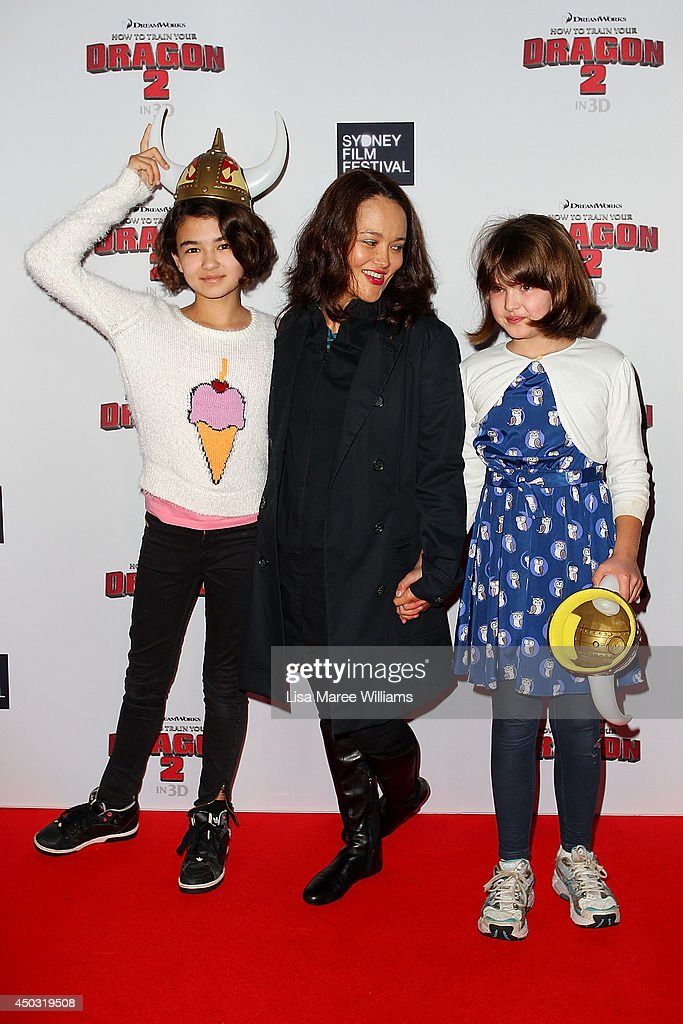 Yumi Stynes and family attend the 'How To Train Your Dragon 2' Australian premiere at Event Cinemas George Street on June 9, 2014 in Sydney, Australia.