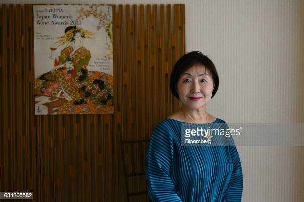 Yumi Tanabe chairperson of the 4th Sakura Japan Women's Wine Awards 2017 the international wine competition judged by female wine professionals poses...