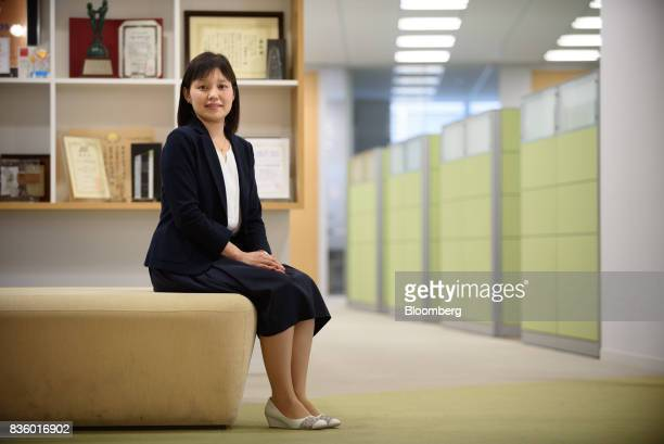 Yumiko Aboshi manager of the Frugra brand at Calbee Inc poses for a photograph in Tokyo Japan on Tuesday July 18 2017 Calbee's granola snack had been...