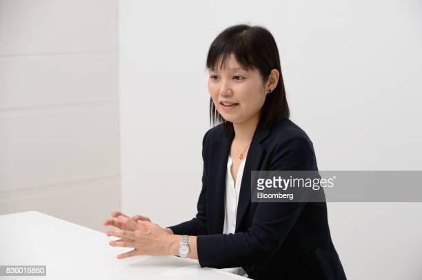 Yumiko Aboshi manager of the Frugra brand at Calbee Inc speaks during an interview in Tokyo Japan on Tuesday July 18 2017 Calbee's granola snack had...