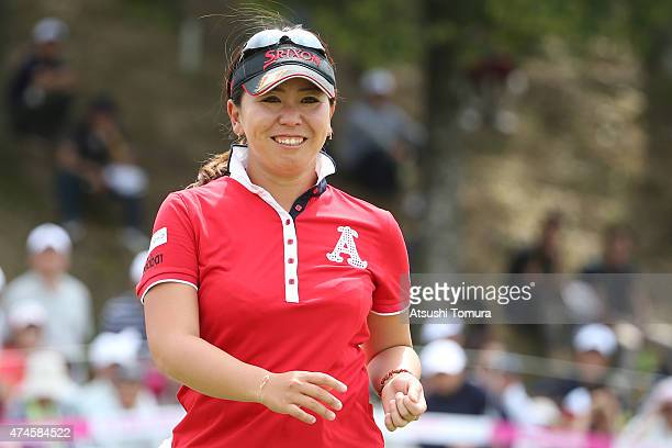 Yumiko Yoshida of Japan smiles after winning the Chukyo Television Bridgestone Ladies Open at the Chukyo Golf Club Ishino Course on May 24 2015 in...
