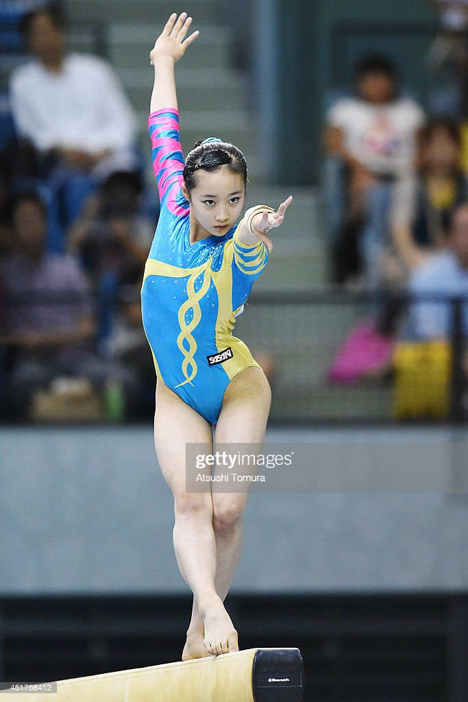 <a gi-track='captionPersonalityLinkClicked' href=/galleries/search?phrase=Yuna+Hiraiwa&family=editorial&specificpeople=12801518 ng-click='$event.stopPropagation()'>Yuna Hiraiwa</a> of Japan competes in the Balance Beam during the 68th All Japan Gymnastics Apparatus Championships on July 6, 2014 in Chiba, Japan.
