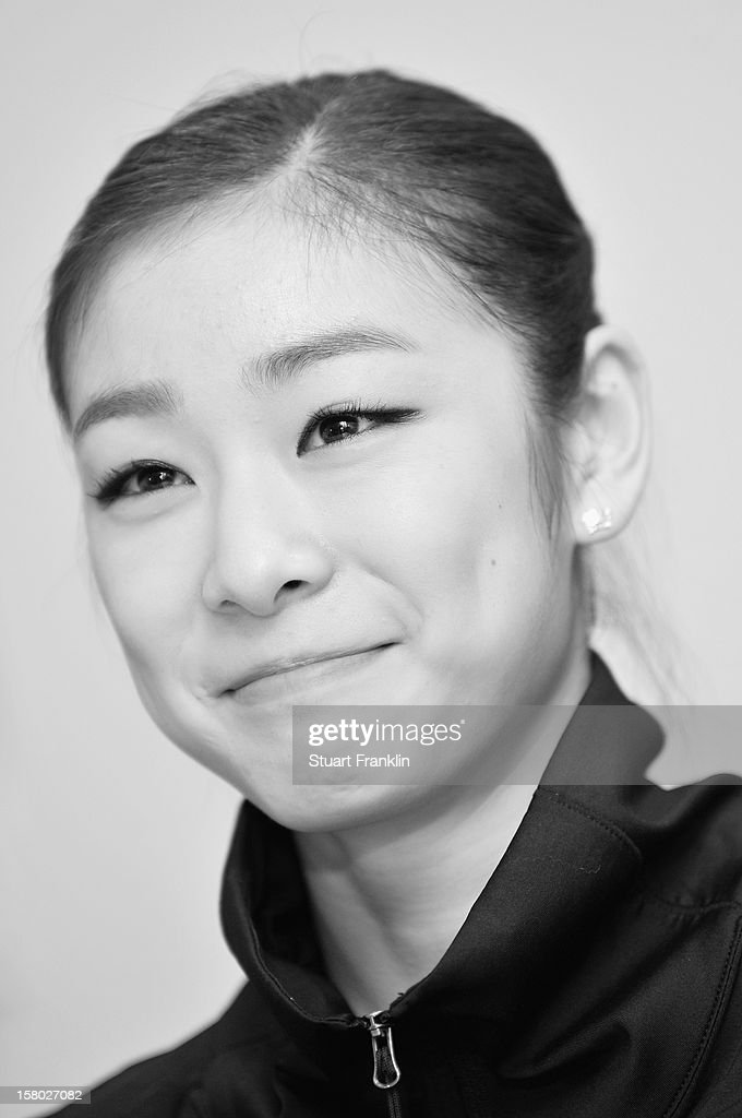 . Yuna Kim of Korea during her press conference after winning the senior ladies freestyle section of the NRW trophy at Eissportzentrum on December 9, 2012 in Dortmund, Germany.