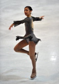 Yuna Kim of Korea in action during the senior ladies freestyle section of the NRW trophy at Eissportzentrum on December 9 2012 in Dortmund Germany
