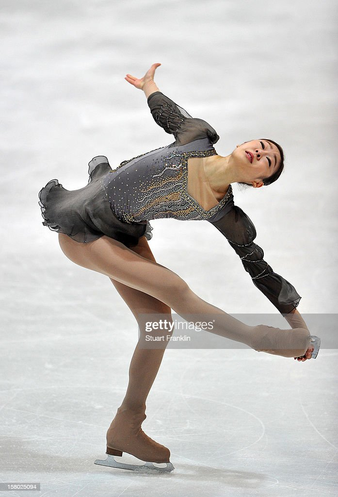 Yuna Kim of Korea in action during the senior ladies freestyle section of the NRW trophy at Eissportzentrum on December 9, 2012 in Dortmund, Germany.