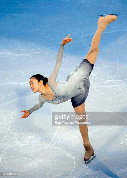 YuNa Kim of Korea perform at the Exhibition Gala following the Olympic figure skating competition at Pacific Coliseum on February 27 2010 in...