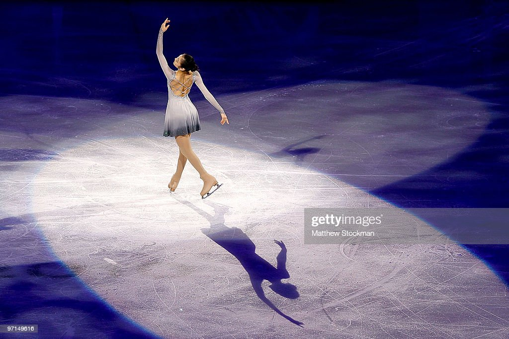 YuNa Kim of Korea performs at the Exhibition Gala following the Olympic figure skating competition at Pacific Coliseum on February 27 2010 in...