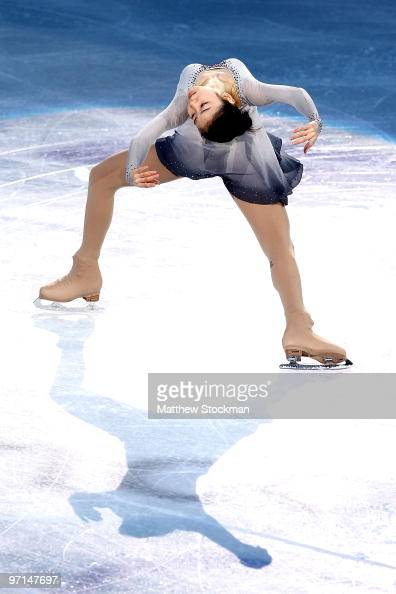YuNa Kim of Kroea performs at the Exhibition Gala following the Olympic figure skating competition at Pacific Coliseum on February 27 2010 in...