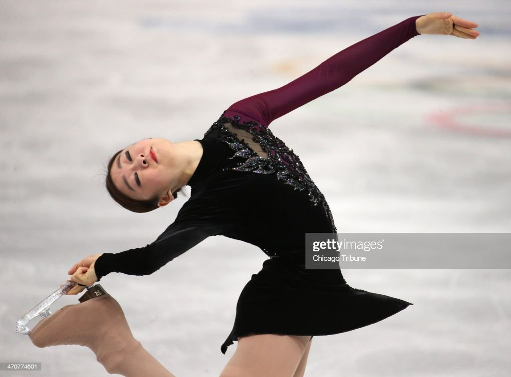 Yuna Kim of South Korea performs in the ladies' figure skating free skate at the Iceberg Skating Palace during the Winter Olympics in Sochi, Russia, Thursday, Feb. 20, 2014.