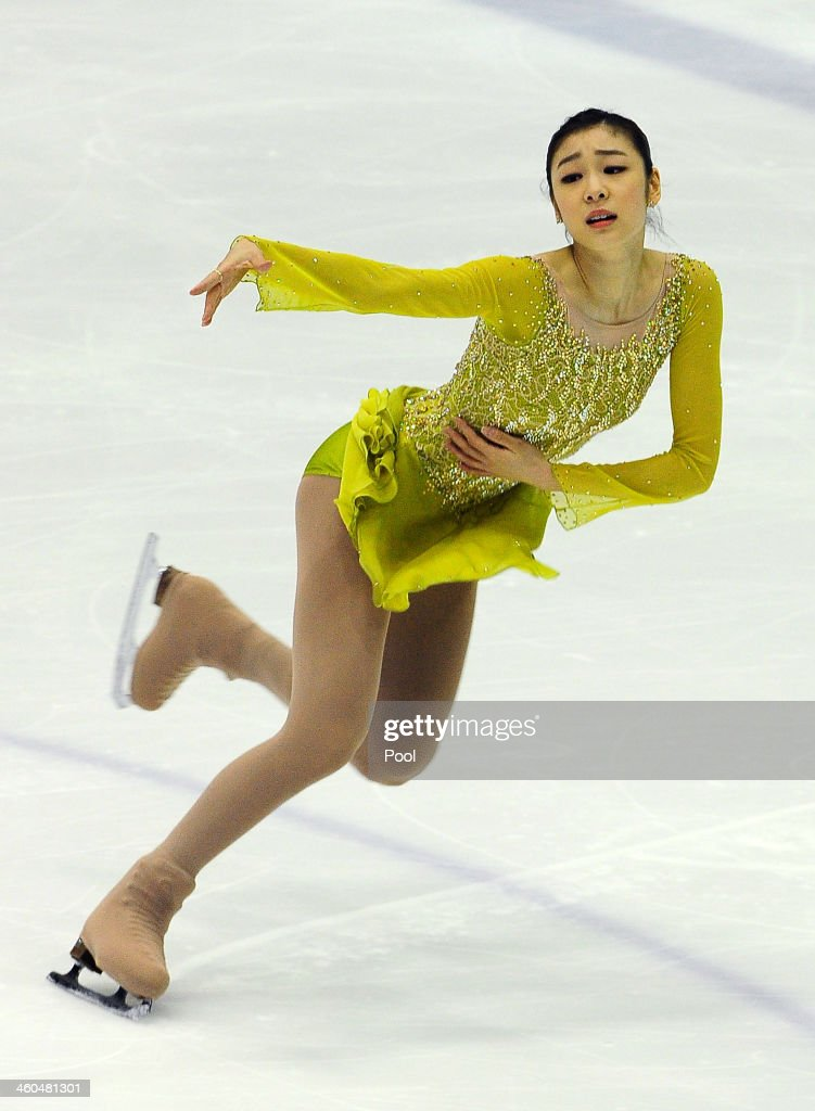 Yuna Kim of South Korea performs in the Ladies Short Program during the Korea Figure Skating Championships 2014 at Goyang Oulimnuri Ice Rink on January 4, 2014 in Goyang, South Korea.