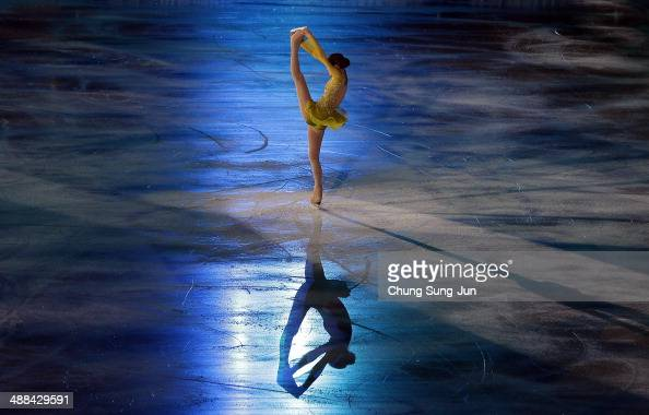 Yuna Kim performs during her farewell ice show at Olympic Gymnastics Stadium on May 6 2014 in Seoul South Korea