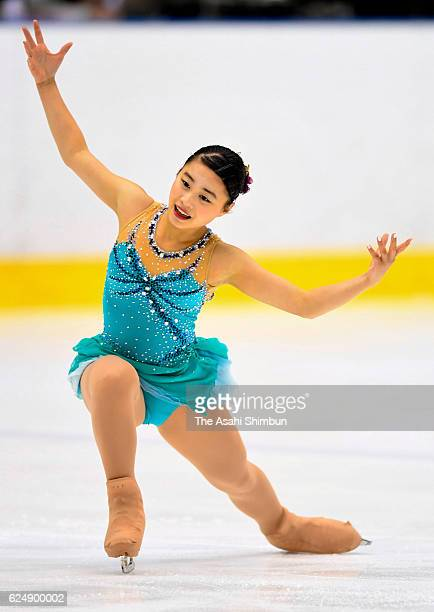 Yuna Shiraiwa competes in the women's singles free program during day three of the 85th All Japan Figure Skating Junior Championships at Sapporo...