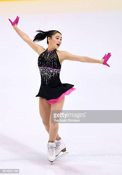 Yuna Shiraiwa competes in the Women's Singles Short Program during day two of the 85th All Japan Figure Skating Junior Championships at Sapporo...