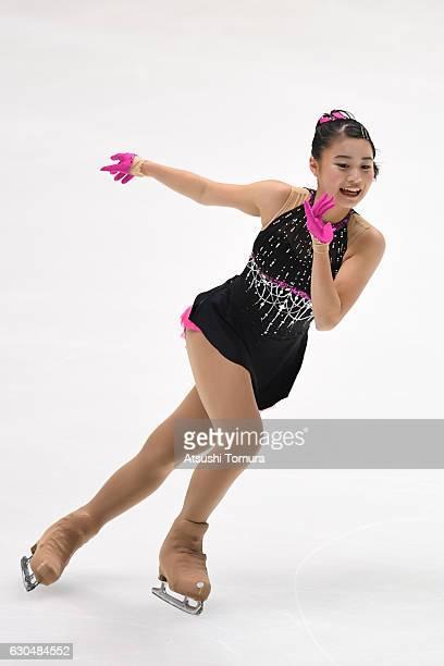 Yuna Shiraiwa of Japan competes in the Ladies short program during the Japan Figure Skating Championships 2016 on December 24 2016 in Kadoma Japan