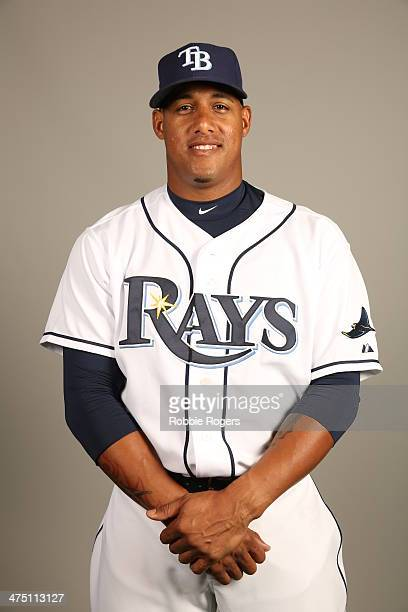 Yunel Escobar 11# of the Tampa Bay Rays poses during Photo Day on Wednesday February 26 2014 at Charlotte Sports Park in Port Charlotte Florida
