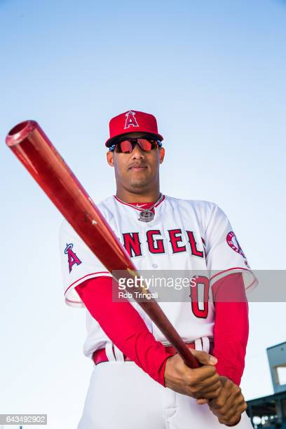 Yunel Escobar of the Los Angeles Angels of Anaheim poses for a portrait during Angels Photo Day at Tempe Diablo Stadium on February 21 2017 in Tempe...