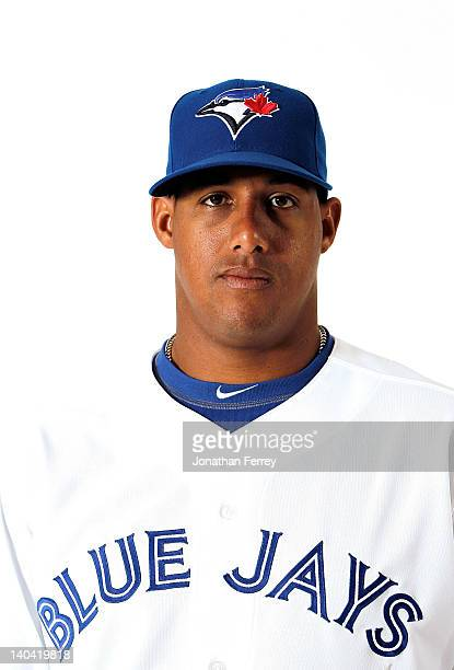 Yunel Escobar of the Toronto Blue Jays poses for a portrait at Dunedin Stadium on March 2 2012 in Dunedin Florida