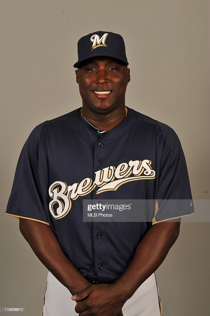 Yuniesky Betancourt of the Milwaukee Brewers poses during Photo Day on Thursday February 24 2011 at Maryvale Baseball Park in Maryvale Arizona