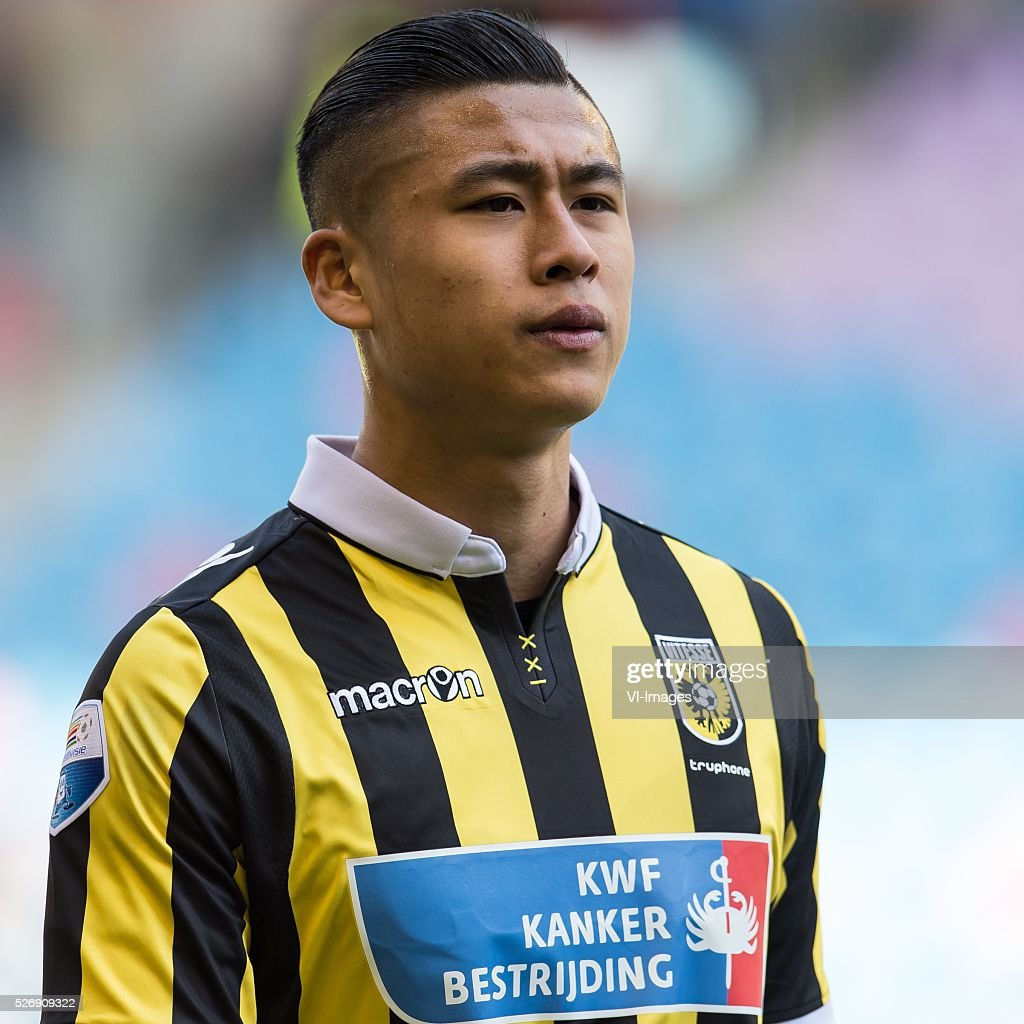 Yuning Zhang of Vitesse during the Dutch Eredivisie match between Vitesse Arnhem and FC Utrecht at Gelredome on May 01, 2016 in Arnhem, The Netherlands