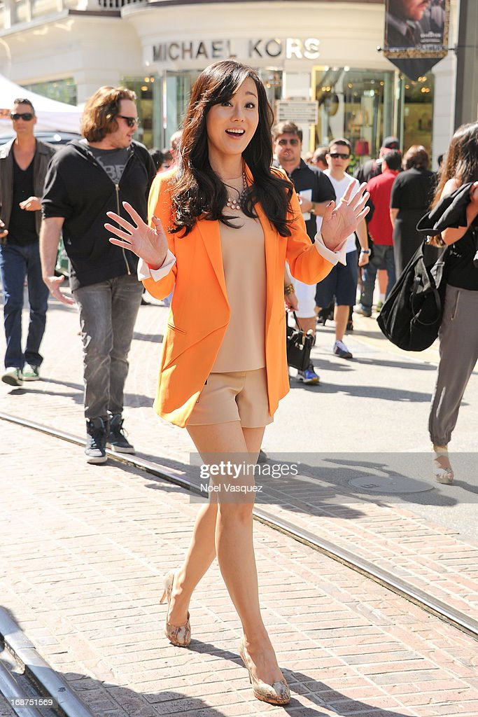 Yunjin Kim is sighted at The Grove on May 14, 2013 in Los Angeles, California.