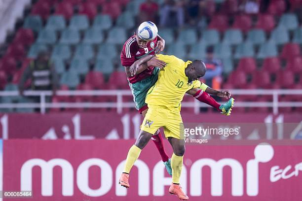 Yunus Abdelhamid of Morocco Luis Leal dos Anjos of Sao Tome e Principe during the Africa Cup of Nations match between Morocco and Sao Tome E Principe...
