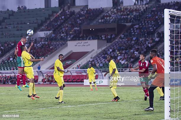 Yunus Abdelhamid of Morocco tries to score during the Africa Cup of Nations match between Morocco and Sao Tome E Principe at September 4 2016 at the...
