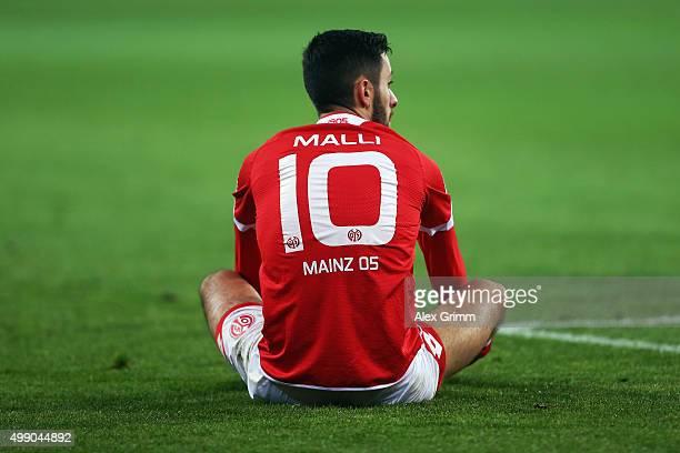 Yunus Malli of Mainz reacts during the Bundesliga match between 1 FSV Mainz 05 and Eintracht Frankfurt at Coface Arena on November 28 2015 in Mainz...