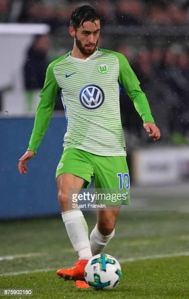 Yunus Malli of Wolfsburg in action during the Bundesliga match between VfL Wolfsburg and SportClub Freiburg at Volkswagen Arena on November 18 2017...
