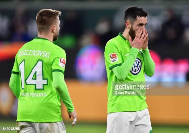 Yunus Malli of Wolfsburg looks dejected during the Bundesliga match between VfL Wolfsburg and Werder Bremen at Volkswagen Arena on February 24 2017...