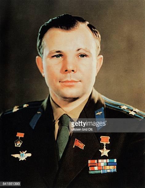 Yuri Alekseyevich Gagarin * Soviet cosmonaut USSR portrait date unknown photo by Vassili Malyshev