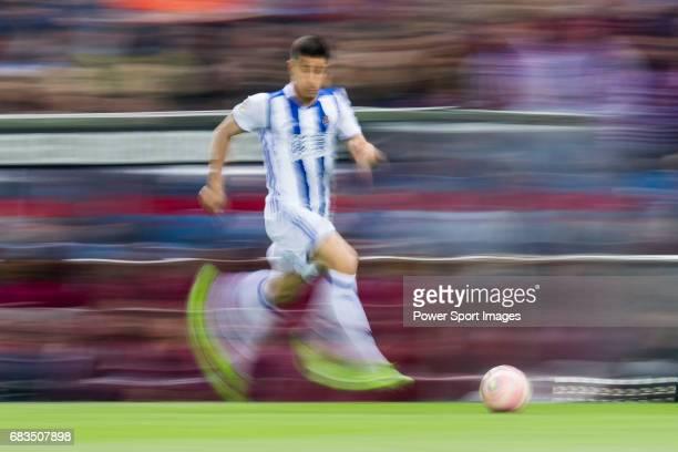 Yuri Berchiche Izeta of Real Sociedad in action during their La Liga match between Atletico de Madrid vs Real Sociedad at the Vicente Calderon...