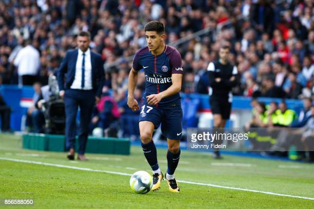 Yuri Berchiche of Paris Saint Germain during the Ligue 1 match between Paris Saint Germain and FC Girondins de Bordeaux at Parc des Princes on...