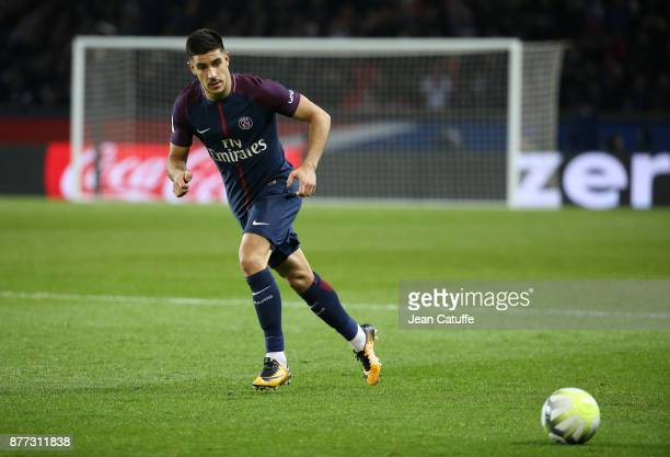 Yuri Berchiche of PSG during the French Ligue 1 match between Paris Saint Germain and FC Nantes at Parc des Princes stadium on November 18 2017 in...