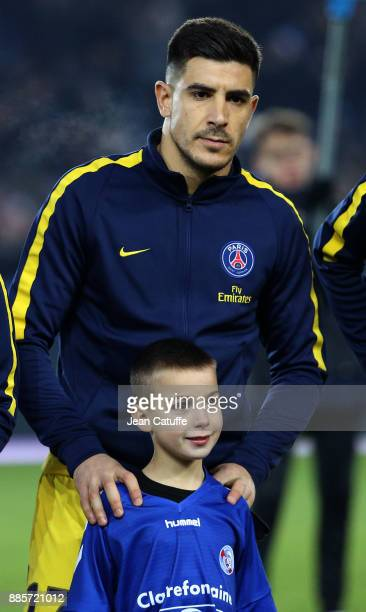 Yuri Berchiche of PSG during the French Ligue 1 match between RC Strasbourg Alsace and Paris Saint Germain at Stade de la Meinau on December 2 2017...