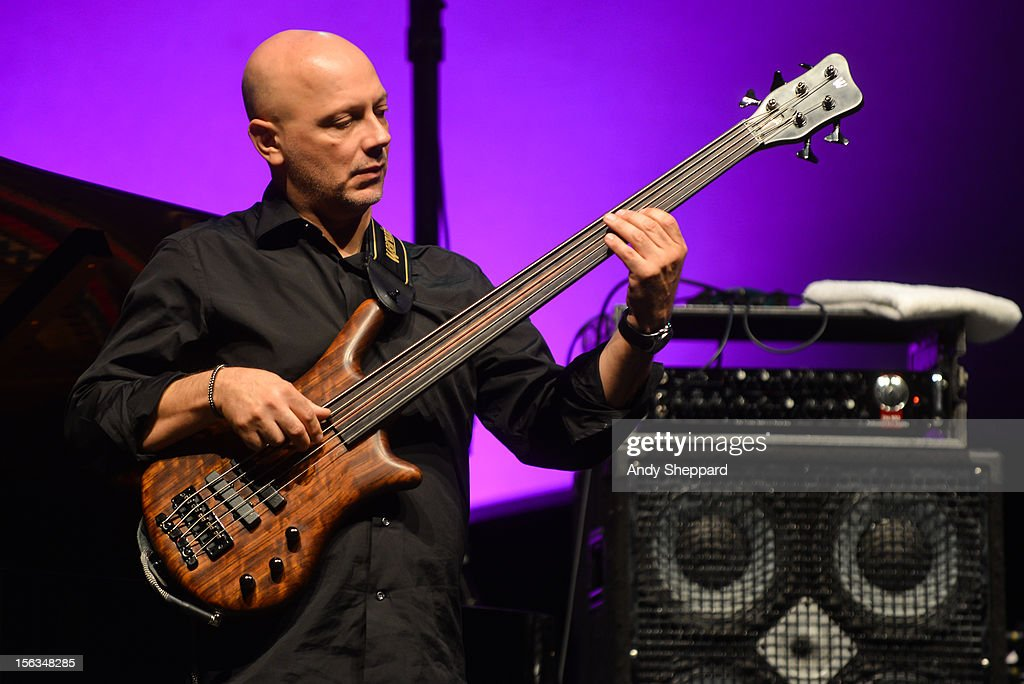 Yuri Daniel of the Jan Garbarek Group performs on stage during the London Jazz Festival 2012 on November 13, 2012 in London, United Kingdom.