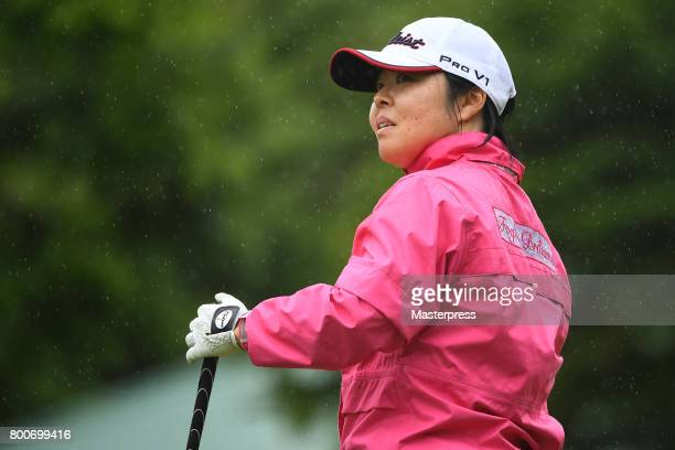 Yuri Fudoh of Japan looks on during the final round of the Earth Mondamin Cup at the Camellia Hills Country Club on June 25 2017 in Sodegaura Japan