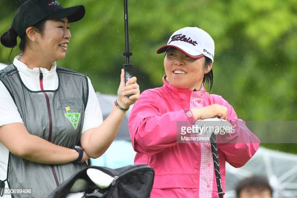 Yuri Fudoh of Japan smiles during the final round of the Earth Mondamin Cup at the Camellia Hills Country Club on June 25 2017 in Sodegaura Japan