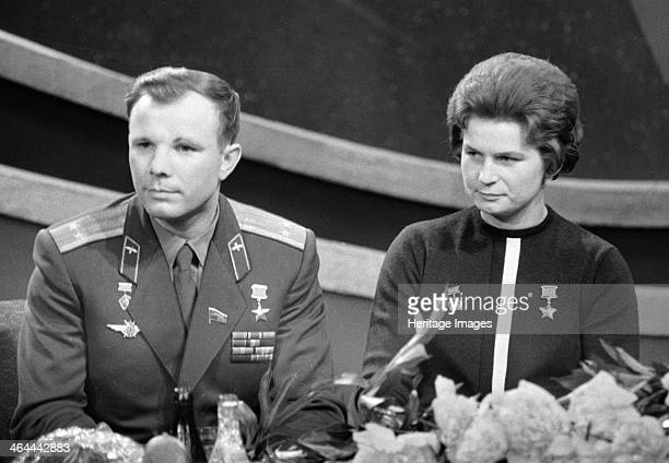 Yuri Gagarin and Valentina Tereshkova Russian cosmonauts 1963 Gagarin became the first man in space when he orbited the Earth aboard Vostok 1 on 12...
