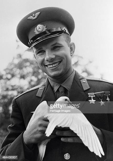 Yuri Gagarin Russian cosmonaut c1963c1964 Gagarin became the first man in space when he orbited the Earth aboard Vostok 1 on 12 April 1961 He was...