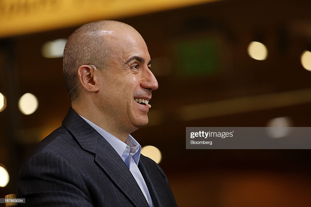 Yuri Milner, chief executive officer of Digital Sky Technologies (DST), laughs during a Bloomberg Television interview at the annual Milken Institute Global Conference in Beverly Hills, California, U.S., on Tuesday, April 30, 2013. Technology companies in China are thriving and will rival Silicon Valley in attracting investment, according Milner. Photographer: Patrick T. Fallon/Bloomberg via Getty Images