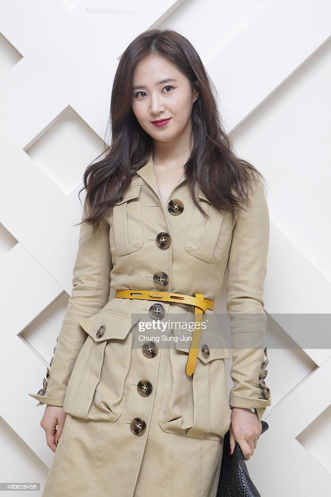 Yuri of Girls Generation wearing Burberry at The Burberry Beauty Box Event on December 18 2014 in Seoul South Korea