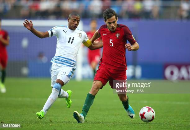 Yuri Ribeiro of Portugal holds off a challenge from Nicolas De La Cruz of Uruguay during the FIFA U20 World Cup Korea Republic 2017 Quarter Final...