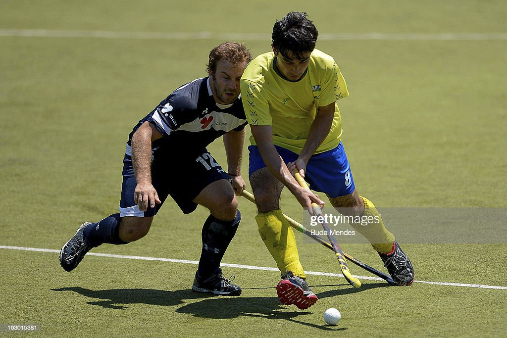 Yuri Van Der Heijden of Brazil in action during a match between Brazil and Chile as part of the Hockey World League - Round 2 at Complexo Esportivo de Deodoro on March 03, 2013 in Rio de Janeiro, Brazil.