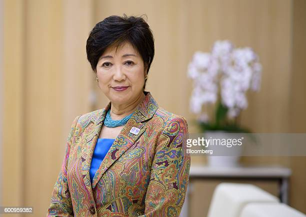 Yuriko Koike governor of Tokyo poses for a photograph in Tokyo Japan on Thursday Sept8 2016 Koike who ran against her own party to beat a candidate...