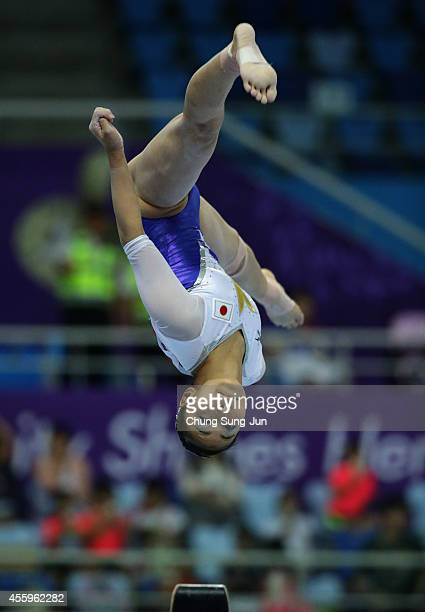 Yuriko Yamamoto of Japan competes in the Women's Induvidual AllAround Final during the 2014 Asian Games at Namdong Gymnasium on September 23 2014 in...