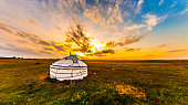 Yurt in the steppe, Mongolia